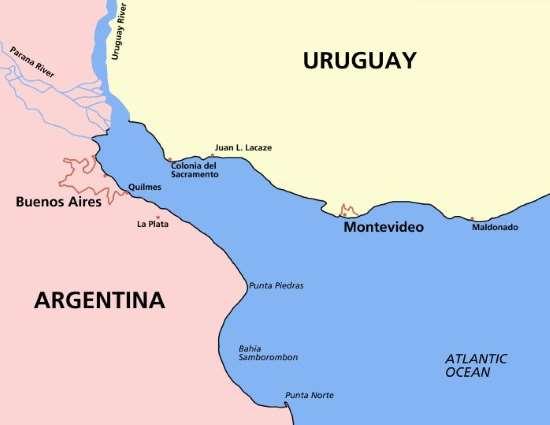 Mapa Buenos Aires Montevideo