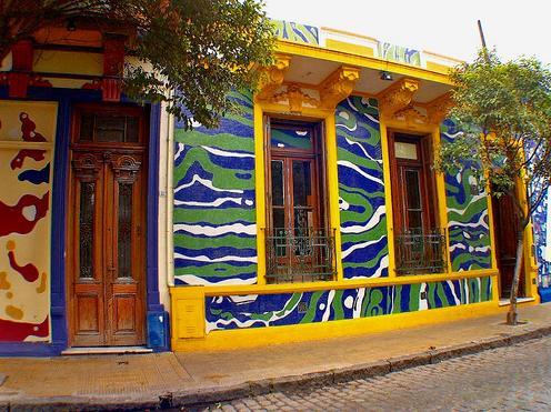 Calle Lanin en Buenos Aires, arte en la calle