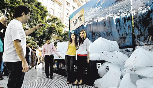 El Glaciar Perito Moreno llega a Buenos Aires
