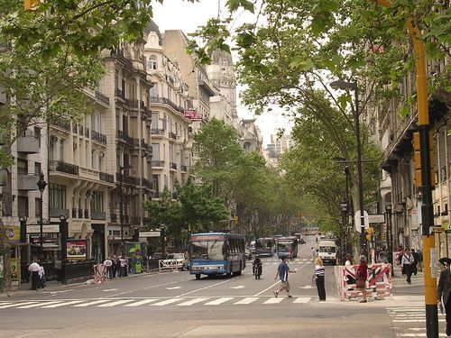 La histórica Avenida de Mayo